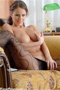 Busty Babe In Hot Pantyhose 18