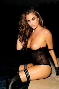 Chloe In Sexy Black Lingerie