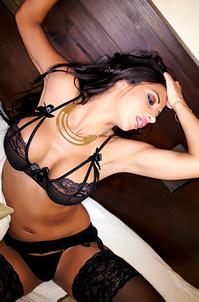 Tashie Jackson In Black Lingerie